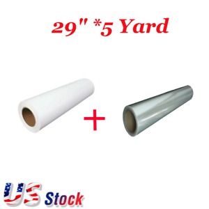 Us Eco solvent Printable Heat Transfer Vinyl White With 1 Roll Application Tape