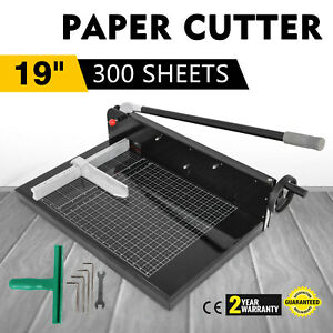 19 Width Guillotine Paper Cutter Heavy Duty Stack Paper Trimmer High Efficiency