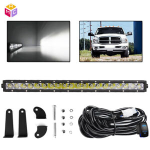 For Dodge Ram 1500 2500 3500 2003 2018 Front Bumper 20 100w Led Light Bar Combo
