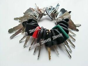 35 Heavy Equipment Keys Construction Ignition Key Set For Cat Case Deere Komatsu