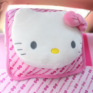 Cute Hello Kitty Car Headrest Neck Pillow Car Interior Accessories 1pcs