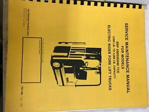 Yale Service Maintenance Manual Electric Rider Forklift Erp 030 035 040tce