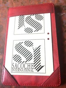 Leather Pocket Note Memo Jotter Writing Pad Italian Leather By Sacoche Index New