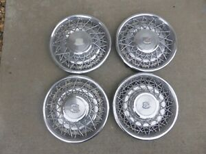 Cadillac Hubcaps Wire Wheel Covers Rims 16
