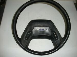Ford F350 F250 F150 Bronco Leather Steering Wheel 87 91 Xlt Lariat W Cruise Oem
