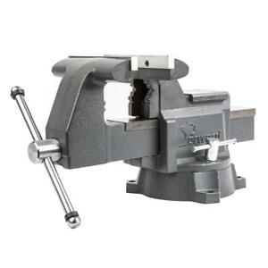 New Forward Cr60a 6 5 inch Bench Vise Swivel Base Heavy Duty With Anvil 6 1 2