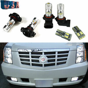 6x Set Bright White Led Fog Driving Drl Light Bulbs For Cadillac Escalade 07 14
