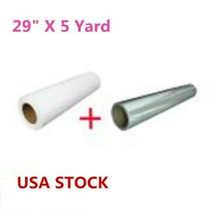 29 X 5 Yard Eco solvent Printable Heat Transfer Vinyl With Application Tape usa