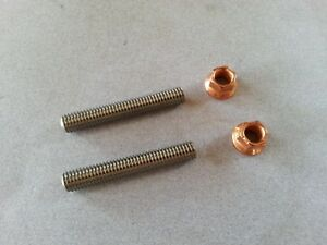 Ford 4 6 5 4 6 8 V8 V10 Stainless Exhaust Stud Kit With Copper Plated Nuts A11