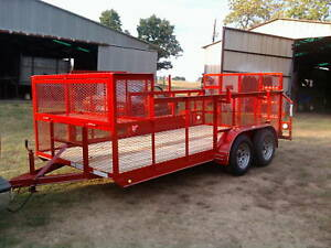 New 2019 77 X 16 Professional Landscape Utility Mower Grass Haul Trailer