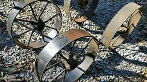 Large Wheels 16 Hit Miss Gas Engine Cart Trucks Engine Trolley Set Of 4