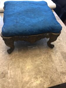 Antique Victorian Cast Iron Foot Stool Sold As Found