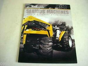Caterpillar Challenger Mt200 Series Tractors Color Brochure 16 Pages B1