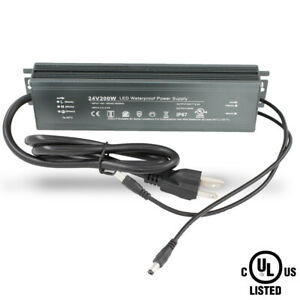 Ul Listed 24v 200w Power Supply Driver Waterproof For Led Light Strip Module