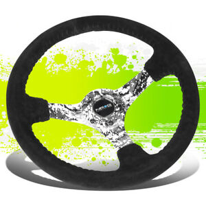 Nrg Rst 036dc S 350mm 3 Deep Camo Spoke Black Suede Steering Wheel W Horn Button
