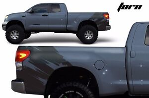 Vinyl Rear Decal Torn Wrap Kit Fits Toyota Tundra Parts 2007 2013 Matte Black