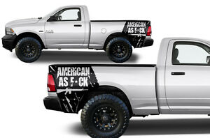 Vinyl Graphics Decal American As F Wrap Kit For Dodge Ram Truck 2009 18 Black