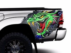 Custom Vinyl Rear Decal Dragon Wrap Kit Fits Toyota Tacoma 05 15 Truck Parts
