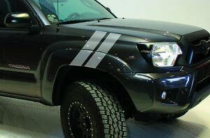 Custom Vinyl Decal Hash Marks Wrap Kit For Toyota Tacoma Parts 2005 2015 Silver