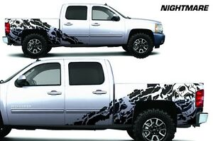 Vinyl Decal Nightmare Wrap Kit For Chevy Silverado 1500 2500 2008 13 Truck Black