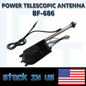 Classic Stainless Steel Electric Power Antenna Kit Am Fm Radio Mast Car Vehicle