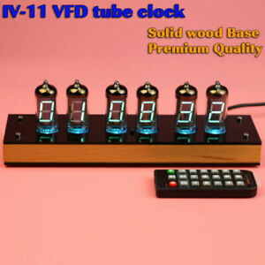 2019 New Version Iv 11 Vfd Nixie Tube Clock Assembled With Nice Wooden Housing