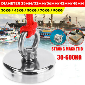 600kg Recovery Magnet Hook Strong Sea Fishing Diving Treasure Hunting Eyebolt