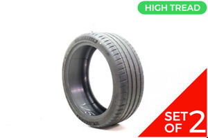 Set Of 2 Used 225 40r19 Michelin Pilot Sport 4 S 93y 8 5 32