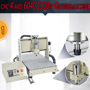 1 5kw Four 4axis Usb Cnc Router 6040 Engraver Machine Drill Mill Woodworking 3d