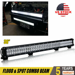 36 Inch 390w Led Light Bar Flood Spot Combo Beam 4wd Truck Driving Lamp Suv Atv