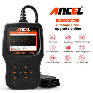 Ancel Ad510 Plus Obd2 Scanner Engine Error Battery Voltage Check Car Code Reader