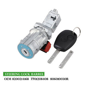 Fit Renault Clio Mk Iii 05 12 Ignition Switch Lock Barrel Cylinder Oe 8200214168