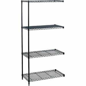 Safco Industrial Wire Shelving Add on Unit 48 X 18 X 72 4 X