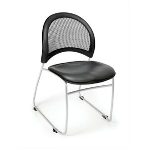 Moon Stack Vinyl Chair Charcoal
