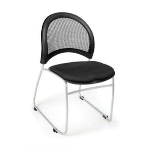 Ofm Moon Series Model 335 Fabric Stack Chair Black