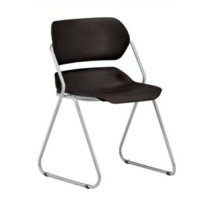 Martisa Series Armless Plastic Stack Chair Black