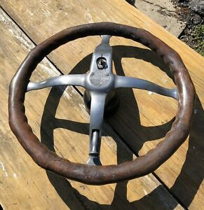 Spencer Fatman Steering Wheel Model T Ford Antique Vintage Wood