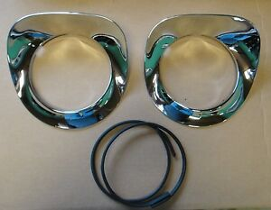 55 56 57 Chevy Truck Chrome Headlight Bezels 1955 1956 1957 New