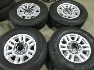 18 Ford F250 Factory Oem Silver Wheels Rims Goodyear Tires F350 10098