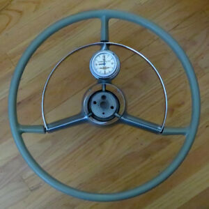 1952 Oldsmobile Clock Steering Wheel With Horn Ring Clock Turn Signal Arm