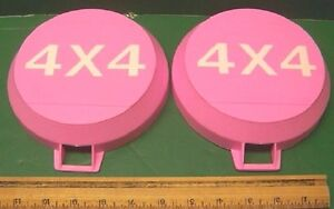 8 Pink Jeep Stone Covers Fog Lights Rock Guards 4x4 Off Road Driving Fog Lights