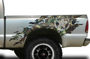 Torn Half Bed Graphic Kit Truck Decal Sticker Set Fits Ford F250 1999 2006 Camo