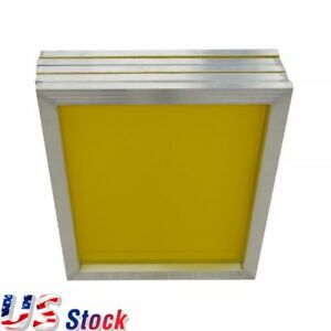 6 Pack 18 X 20 Aluminum Frame Screen Printing Screens 200 Mesh Count Yellow