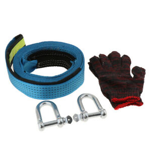 Recovery Tow Strap W duffel Bag u Hooks Shackles And Gloves