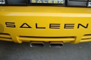 Rear Decal Sticker Inlay Bumper Letters For Ford Mustang Saleen 2005 2009