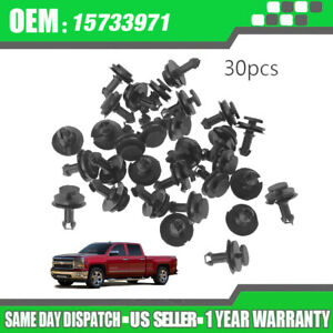 New 30pcs Front Bumper Air Dam Deflector Retainer Clips For Chevy Silverado