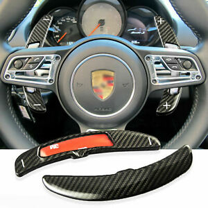 For 2016 Porsche Cayenne Panamera Macan Carbon Fiber Paddle Shifter Extensions