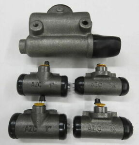 Mb Gpw Willys Ford Wwii Jeep Cj2a Brake Master Cylinder Wheel Cylinders Set