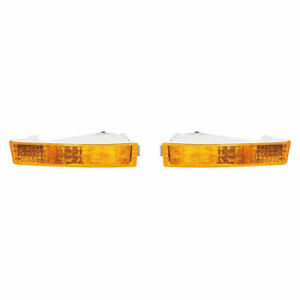 New Depo Driver Passenger Front Park Signal Light Set For 92 93 Honda Prelude