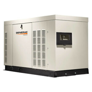 Generac Rg03015anax 30kw 120 240 volt Single phase Protector Standby Generator